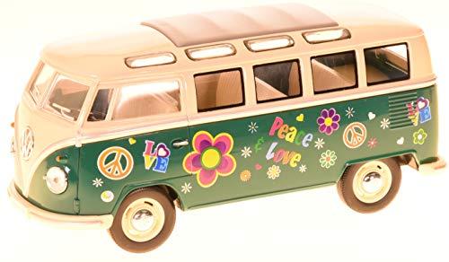 VW T1 1962 Hippi Bus 1:32 Bulli mit Surfbrett Modellauto