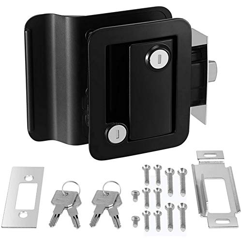Cerradura de puerta de RV Pestillo de bloqueo de puerta de RV Kit de herramientas de cerradura interior y exterior para puerta de entrada de RV Cerradura del panel para RV, remolque, yate, caravana