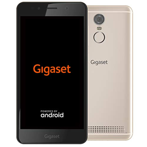 Gigaset GS180 Smartphone ohne Vertrag (12,7 cm (5 Zoll HD) 16:9 Display, 16GB Speicher, Pure Android 8.1) champagne