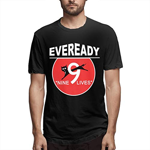Eveready Battery Logo Mens Classic T Shirts Funny Slogan Black