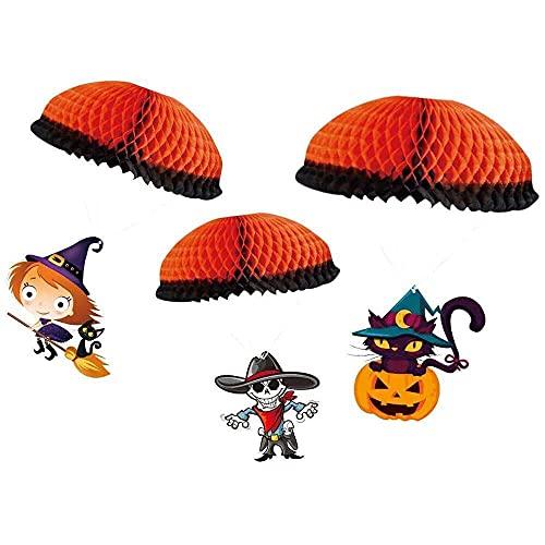 YuKeShop Paquete de 3 piezas de Halloween de paracaídas de papel colgante de paracaídas de Halloween, decoración del hogar