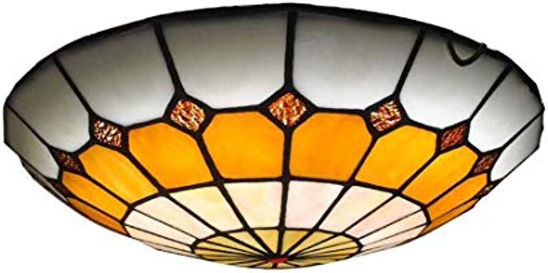 HEFEI LED Deckenleuchte Mittelmeer Deckenleuchte Runde Deckenleuchte Korridor Gang Licht Kreative Taste Deckenleuchte XIAOXAIO (Farbe   Bright Weiß, Gre   30)