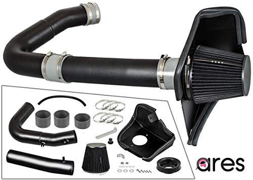 Ares Motorsports Cold Air Intake System with Heat Shield Kit + Filter Combo BLACK Compatible With Challenger/Compatible With Charger/Compatible With Chrysler 300 3.6L V6 2011-2016