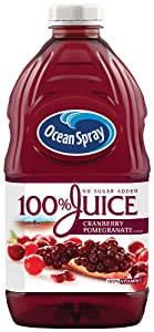 (1) 8-Pack of 60 Ounce bottles (480 ounces) It's 100% fruit juice with no added sugar Two servings (one cup) of fruit and 100% of your daily vitamin C in every glass No preservatives, artificial flavors or sweeteners From the Growers at Ocean Spray -...