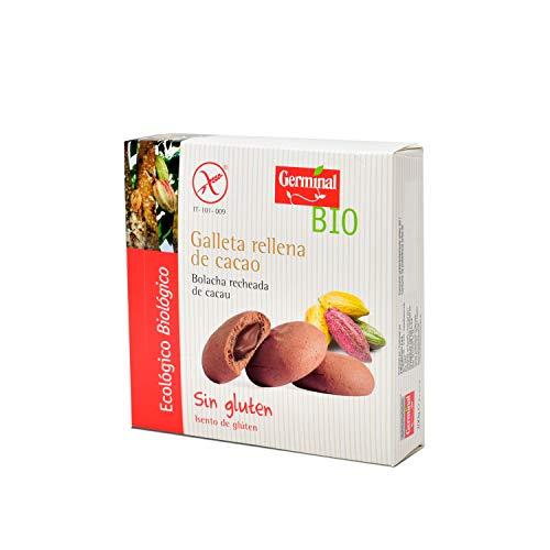 Galletas sin gluten rellenas de crema de cacao bio - GERMINAL - 200g, Pack of 10