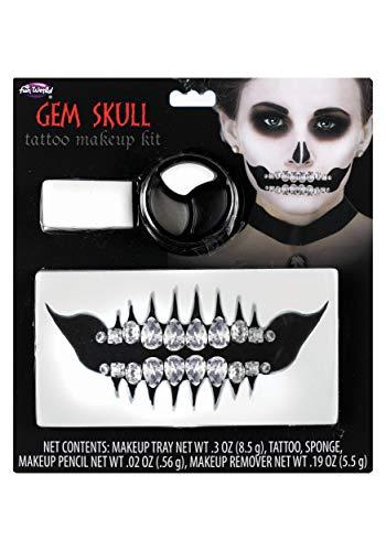 Fun World Gem Skull Makeup Kit Standard