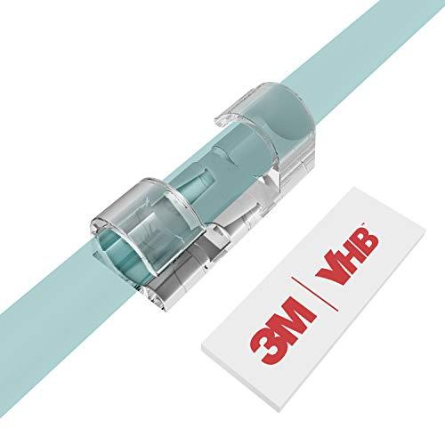 Kabelclips Kabelhalter, XIAOXI Vielzwecke Kabelführung Kabel Organizer Set mit Klebstoff Gesicherte Unterlage für Schreibtisch, Netzkabel, USB Ladekabel, Ladekabeln usw. - 40 Stück (Transparent)