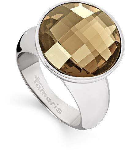 Tamaris Damen-Ring Jane Edelstahl Glas braun Gr. 54 (17.2) - A03510073