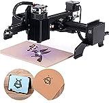 Máquina de grabado de 20W, adecuada para principiantes en área de trabajo de 24.5 x 12,5 cm, super fácil de instalar y operar la máquina de grabado, utilizada para grabado y corte de plástico de mader