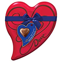 DOVE Valentine's Milk Chocolate Truffles Candy Heart Gift Box 6.5-Ounce 18-Piece Tin by Dove