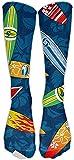 zhouyongz Calcetines deportivos de alta calidad para tabla de surf Hibiscus unisex de alta calidad, calcetines de tubo Fashional tamaño 6-10
