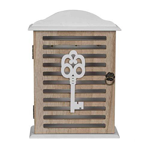 ootb 144292 Boîte à clèfs Blanc en Bois, 27,5 x 19 cm