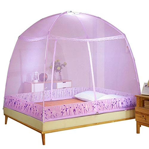 POIUJ Ciel De Lit Moustiquaire Fillexl Purple Summer Mosquito Nets Pliable Camping Mosquito Nets Universal Mosquito Nets Bedroom Home Textile Out Door Suppl