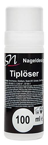 Tiplöser Remover für Tips, Gellack Schellack Easy off Gel Entferner (1 x 100 ml)