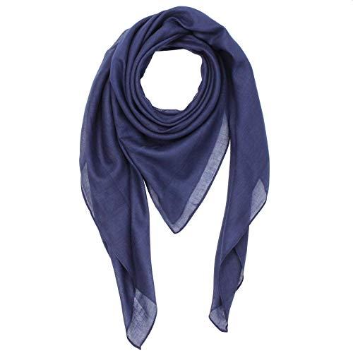Superfreak Baumwolltuch - blau - navy - quadratisches Tuch
