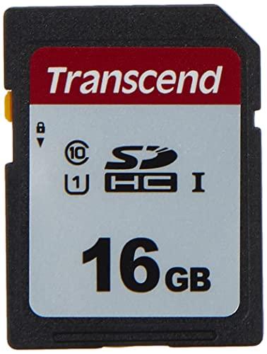 Transcend Highspeed 16GB SDHC Speicherkarte (für Digitalkameras / Photo Box / alltägliche Aufnahmen & Videos / Autoradio) Class 10, UHS-I U1 TS16GSDC300S-E (umweltfreundliche Verpackung)