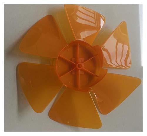 XUNLAN Durable 10-Zoll-Kunststoff-Lüfterklinge für 6-Blade-elektrische Tabelle oder Desk-Lüfter-Durchmesser 23cm Orange Farbe Wearable