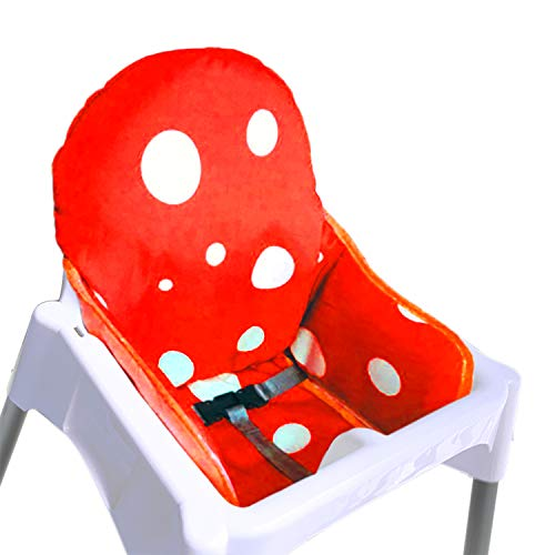 ZARPMA IKEA Antilop Highchair Cushion, New Version Baby Highchair Seat Covers, More Thick, Washable & Foldable, Child Chair Insert Mat Padding (Red)