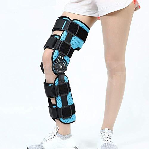 JF-XUAN Soporte de Acero Ajustable Rodilla ortopédica Fijador Izquierda y Derecha de la Banda articulación en bisagra Médico Estabilizador Después de la tablilla de la recuperación Fijo