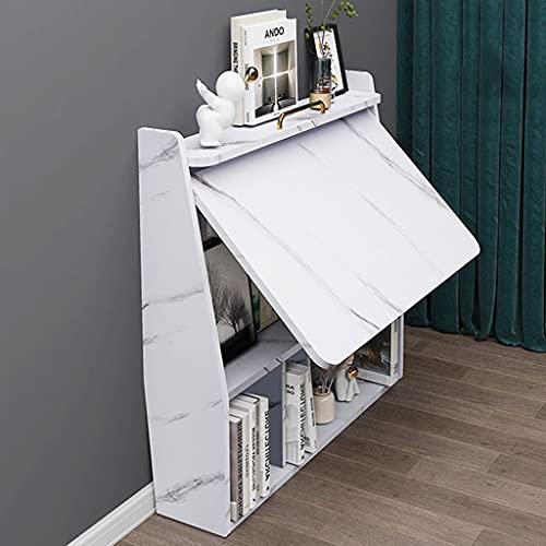 Escritorio plegable para computadora contra la pared Estantería para montaje en pared con estantes Almacenamiento Escritorio portátil Escritura Mesa para Estación de trabajo mesa de estudio