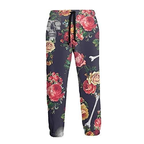 LAOLUCKY Pantalones de chándal casuales para hombre, pantal