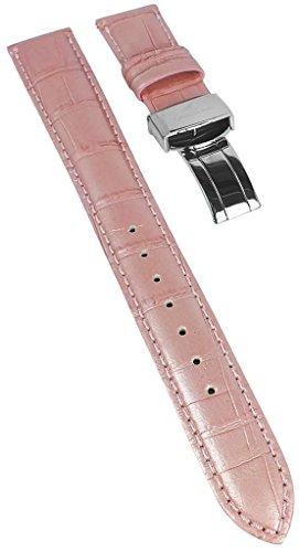 Ersatzband 18mm Casio Oceanus Ladies Uhrenarmband aus Leder rosa OCW-10LA