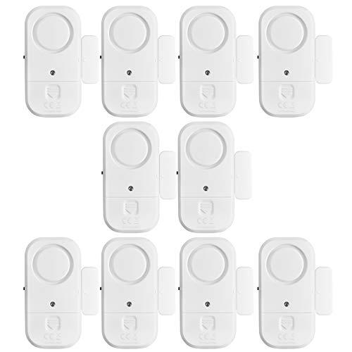 Window Door Alarms, HUMUTU 120DB Pool Alarm for Doors, 10pack Magnet Triggered Pool Window Door Alarms