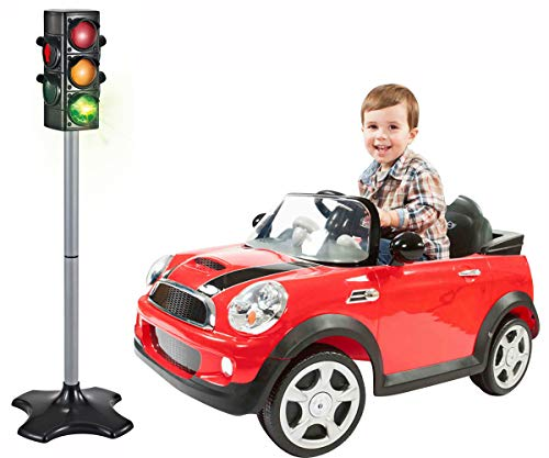 Brigamo Spielzeug Ampel mit Lichtwechsel für Auto- und Fußgängerverkehr