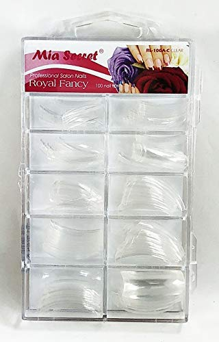 Mia Secret Royal Fancy Nail Tips 100 Pieces (Clear)