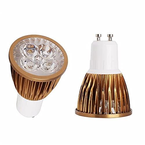 GHC LED Bombillas LED Spotlight Super Bright GU10 Bulbos LED LED Cálido/Frío Blanco 220V Dimmable 85-265V Lámpara LED Luz 3W 4W 5W (Color emisivo : Warm White, Support Dimmer : No)