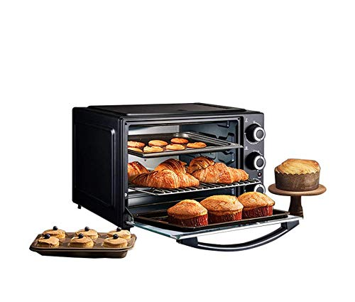 WXJHA Horno para Pizzas, Mini-32L Automática Multifunción Horno Eléctrico Máquina De Cocinar 1500W De Tres Capas De La Torta De Pizza Horno Utensilios De Cocina para Hornear
