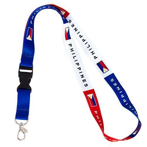 Country of Philippines Flag Car Keys ID Badge Holder Keychain Souvenir (Lanyard)