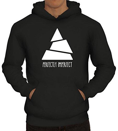 Shirtstreet24 Perfectly Imperfect, Triangle Dreieck Herren Kapuzen Sweatshirt - Pullover Hoodie, Größe: S,Schwarz