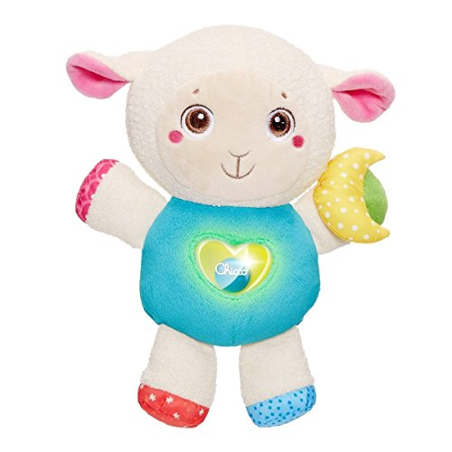 Chicco 00007939000000 Lamb with Melodies and Nightlight First Love, Multi-Colour
