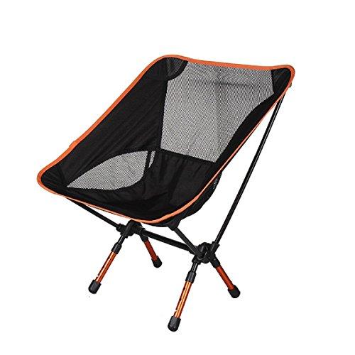 GAOJIAN Aluminium Alliage Folding Moon Chair Outdoor Ultra-Light Portable Multi-Function Fishing Chair Chaise de Jardin rétractable pour Jardin Charge 300 Livres, c