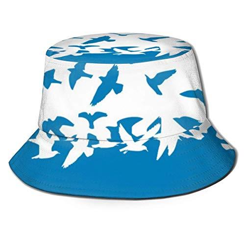 Preisvergleich Produktbild Sonnenhut- UV-Schutz Wandern & Gartenarbeit / Gartenhut Fliegender Vogel Himmel Tier Wildlife Flug Metallic