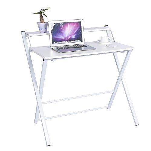 Zerone plegable mesa , Ordenador Portátil Mesa , portátil Mesa de madera (para trabajo y diversión (Color Blanco, Negro)