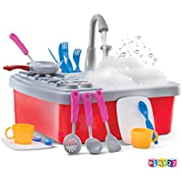 Play22 House Pretend Toy Kitchen Sink with Running Water