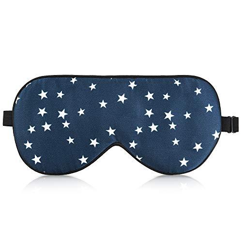 Navaris Schlafmaske Augenmaske Augenbinde aus Seide - 100{80206576668af62f93a3082d5891b33c8ac74d9026b63f39b3e44045dbb2d78f} Dunkelheit zum Schlafen - für Schlaf auf Reisen oder Zuhause - für Frauen und Männer