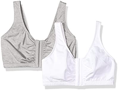 Fruit of the Loom Women's Plus-Size Sport Bra, Heather Grey/White, Size 40 by Ariela-Alpha International LLC Parent Code