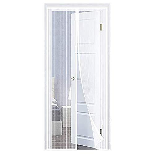 COAOC Zanzariera Magnetica 85X250Cm, Zanzariera Porta Finestra Anti Zanzare Insetti Per Porte D'Ingresso,Porte, Cortili - Bianco