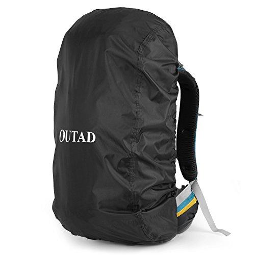 OUTAD Regenschutz für Rucksäcke, wasserdichte Regenhülle Rucksack Cover regenüberzug für Camping Wandern Backpack Schulranzen (schwarz)