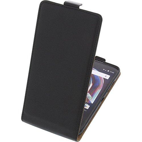 foto-kontor Tasche für Alcatel Idol 5S 6060X Smartphone Flipstyle Schutz Hülle schwarz