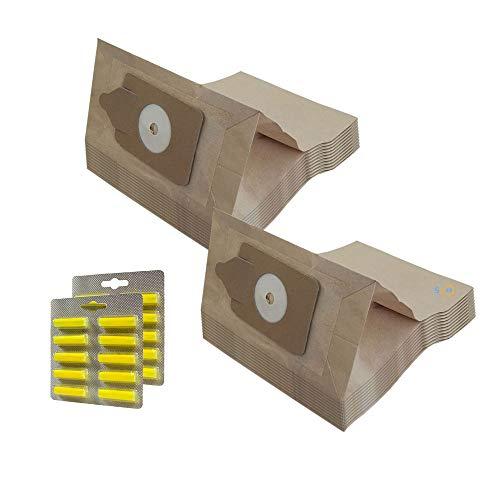 MohMus Set 20 Bolsas de aspiradora + 20 Ambientadores para NUMATIC Harry, NVH-180, James JVP180, PSP-200A, HRP-207 Henry Plus Parquet, NVQ200-22, NRV 200-22, RSV204P