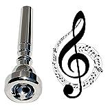 Dewlin Profesional Boquilla para Trompeta, 7c Boquillas para Trompeta, Trompeta Accesorio para Instrumento Musical, para Tamaño Instrumento Musical