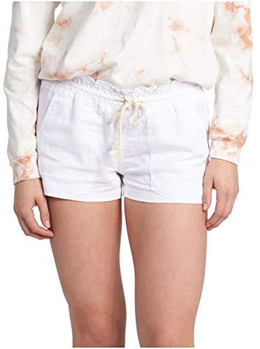 Roxy Women's Oceanside Short Elastic Waist Non Denim Shorts, Sea Salt, Small