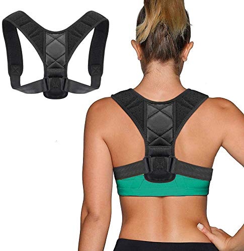 Kucosy Geradehalter zur Haltungskorrektur, Verstellbare Körperhaltung-Korrektor Rückenstütze für Damen und Herren, Haltungstrainer Rückenbandage Schultergurt, Ideal zur für Herren und Damen