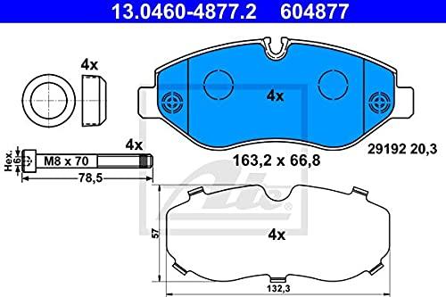 ATE - TEVES 13.0460-0014.616 Bremsbelagsatz, Scheibenbremse