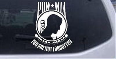 POW MIA Not Forgotten Open Military Car Window Wall Laptop Decal Sticker