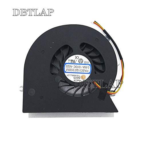 DBTLAP CPU Ventilador compatibles para MSI MS-1781 MS-1782 GT72 GT72S GT72VR 6RE 6RD 7RE 7RD Dominator Pro enfriamiento Ventilador PABD19735BM 0.65A -N292